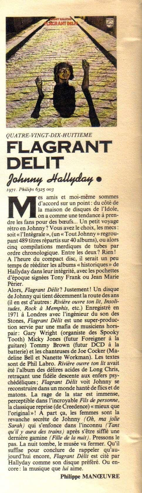 Yarol Poupaud, Black Minou & Johnny Hallyday par Philippe Manoeuvre (Rock&Folk) Flagra10