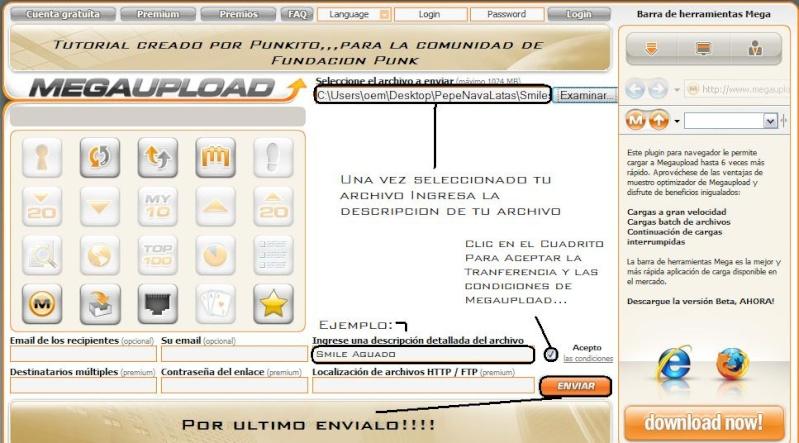 Tutorial Como Subir Archivos a Megaupload... Tuto_m13