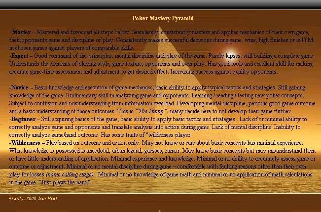 Poker Mastery Pyramid Pyrami11