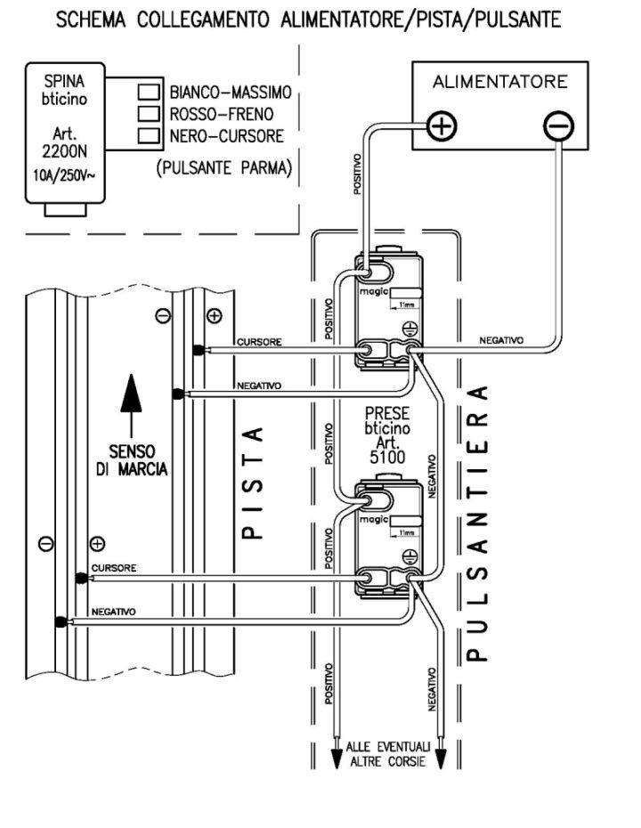 collegamento elettrico Pista Schema10