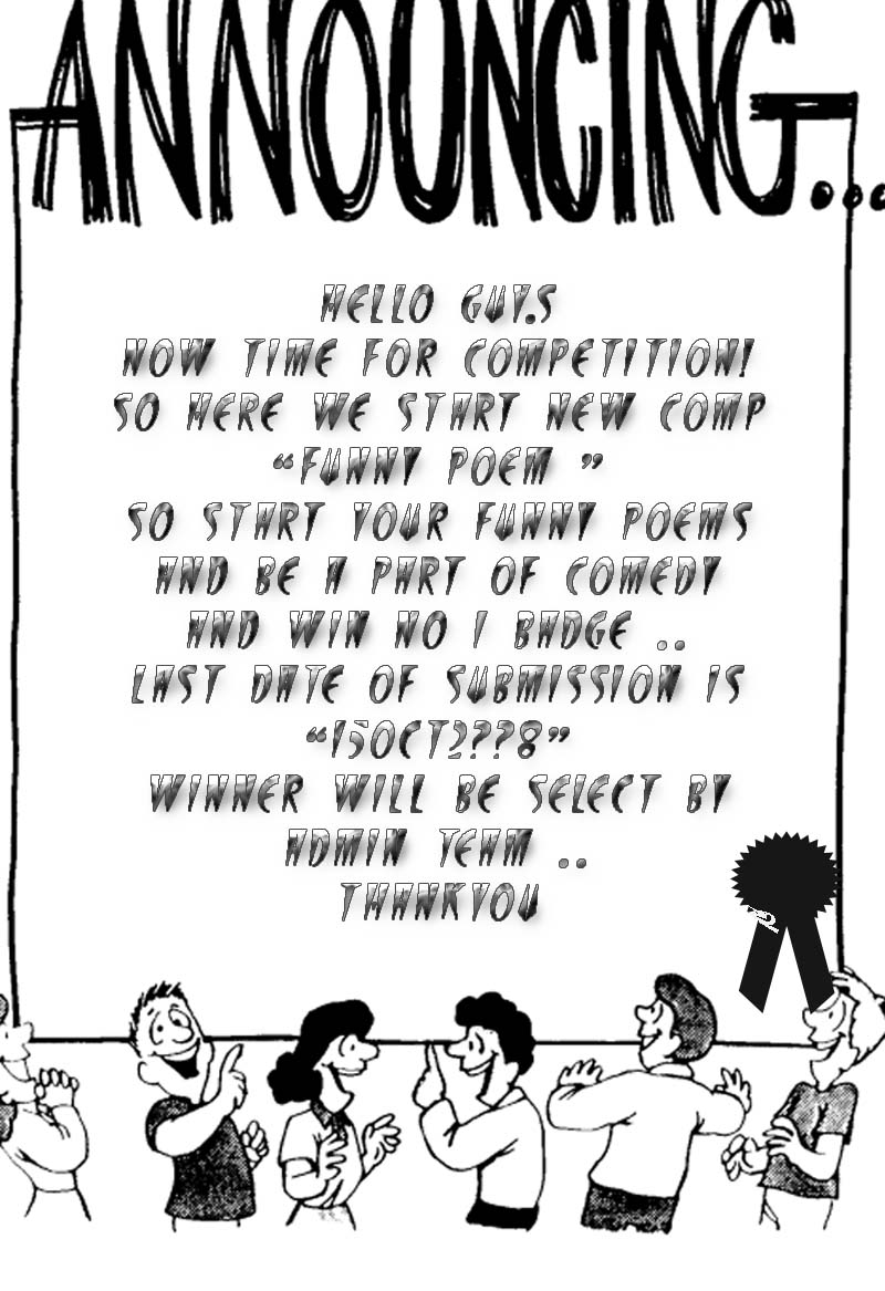 ***FUNNY POEM COMPETITION*** Announ10