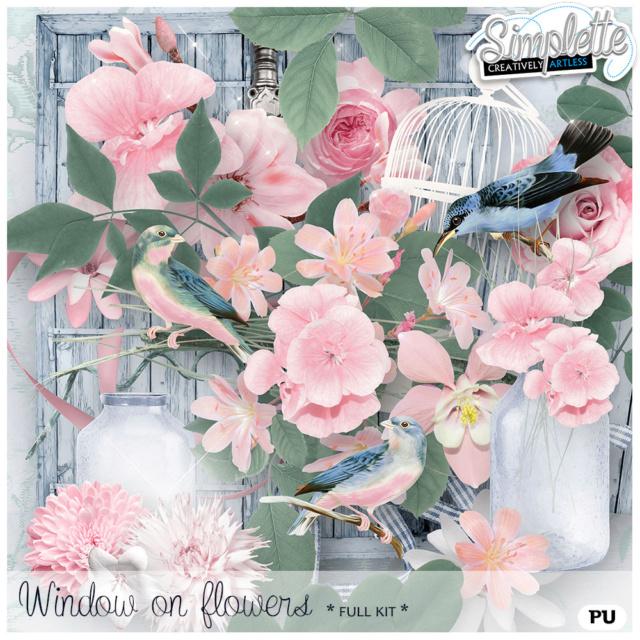 18 Mai : Window on Flowers Simpl340