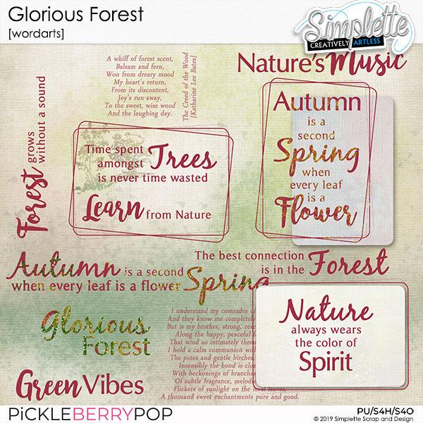 3 décembre : Glorious Forest Simpl564
