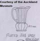 New Shape ~ 2124 fluted jug vase ! 2124_r10
