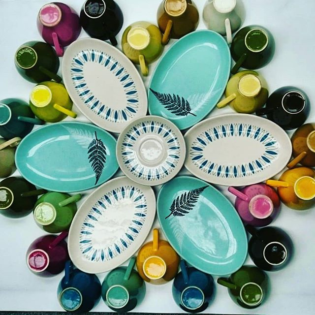 More Crown Lynn Crockery Art by Ev Ladybug, Snake and Blue Tango etc 26184310