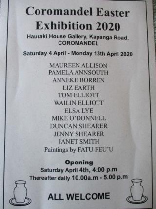 Coromandel Easter Exhibition 2020 April_10