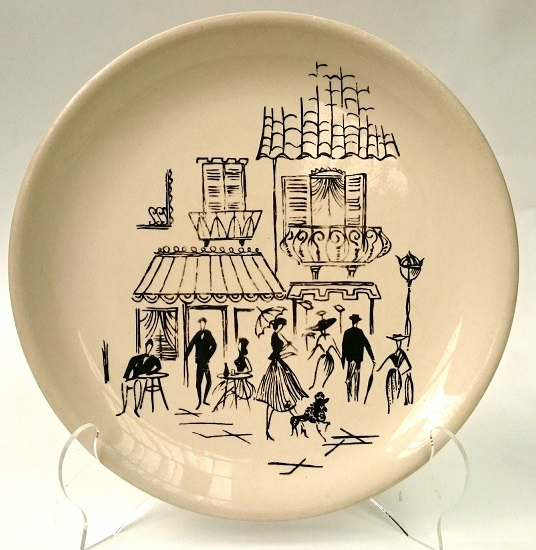 Super Vitrified Ware Paris Cafe Scene Black_10