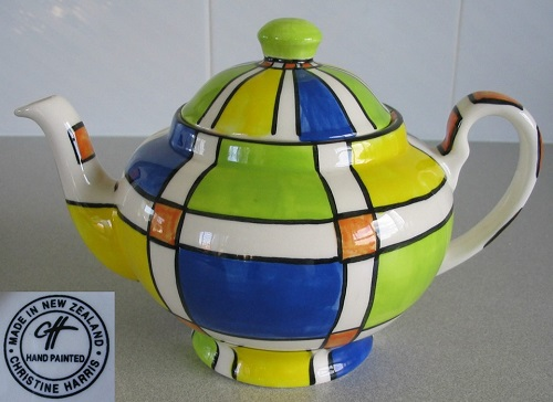 Christine Harris Plaid Teapot courtesy of ynotbrich Christ10