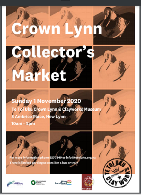Crown Lynn Collector's Market Sunday 1st Nov 2020 Collec10
