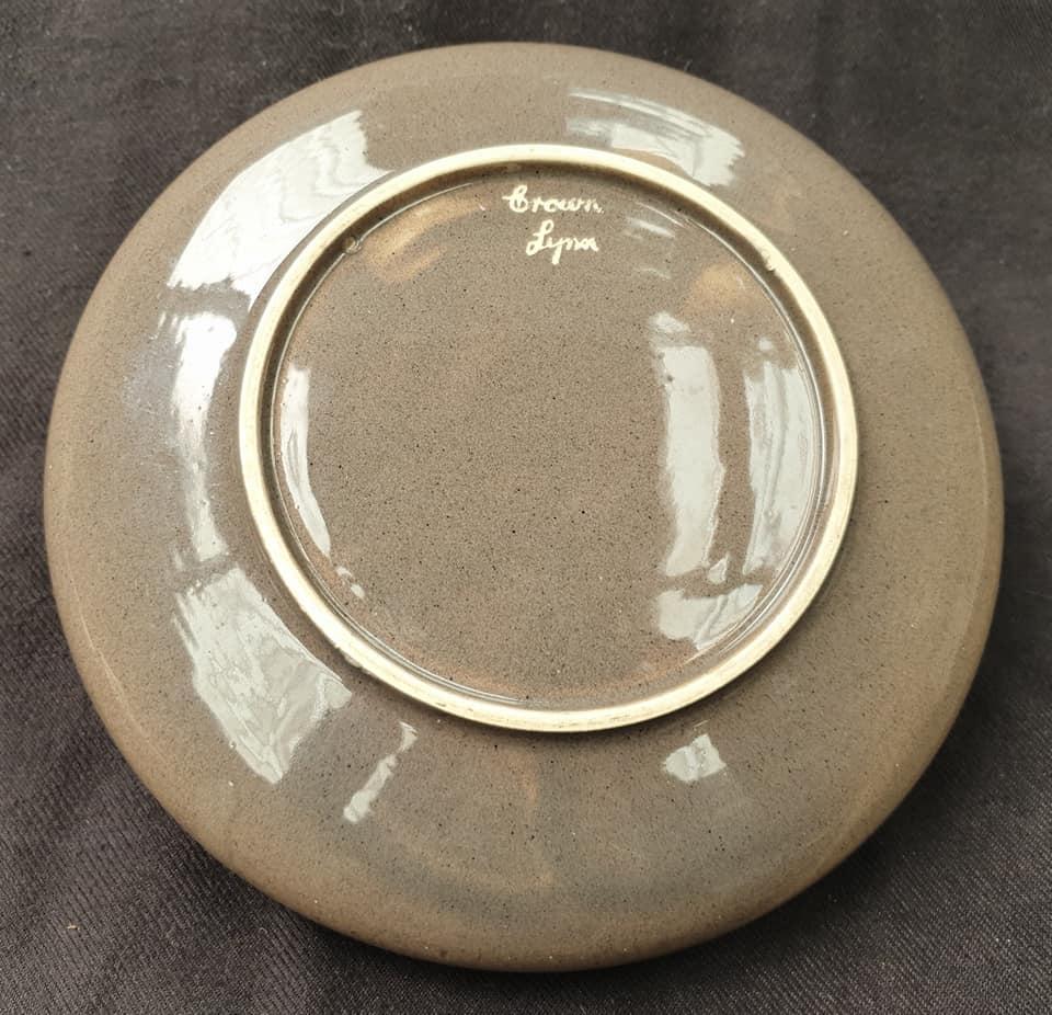 Old Speckled Brown Hand Potted Float Bowl  Float_12