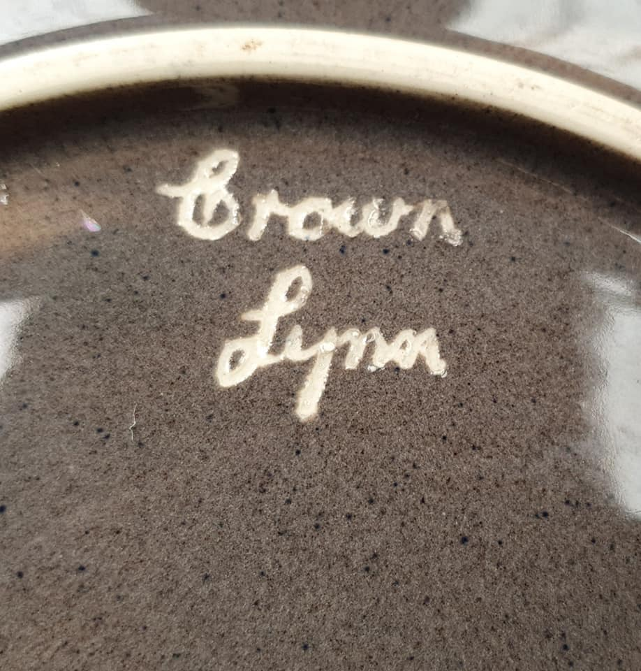 Old Speckled Brown Hand Potted Float Bowl  Float_14
