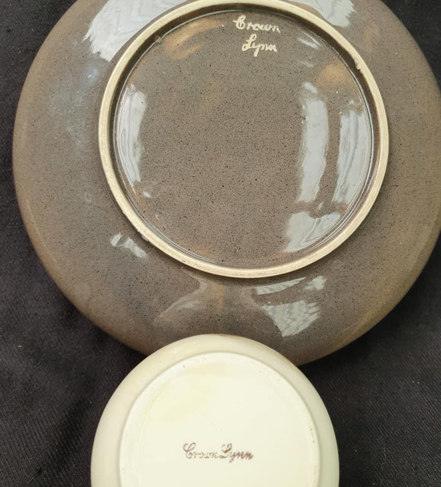 Old Speckled Brown Hand Potted Float Bowl  Float_15