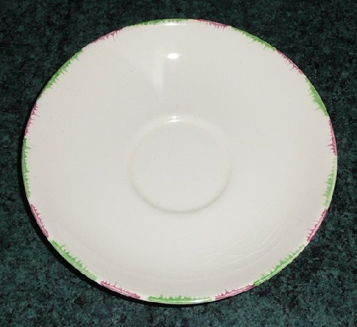 Green and Pink Kelston Ware saucers Green_10