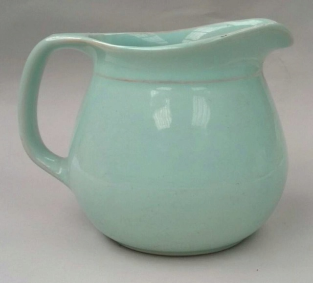 Paris desert bowl in limpid blue green glaze Old_ju10