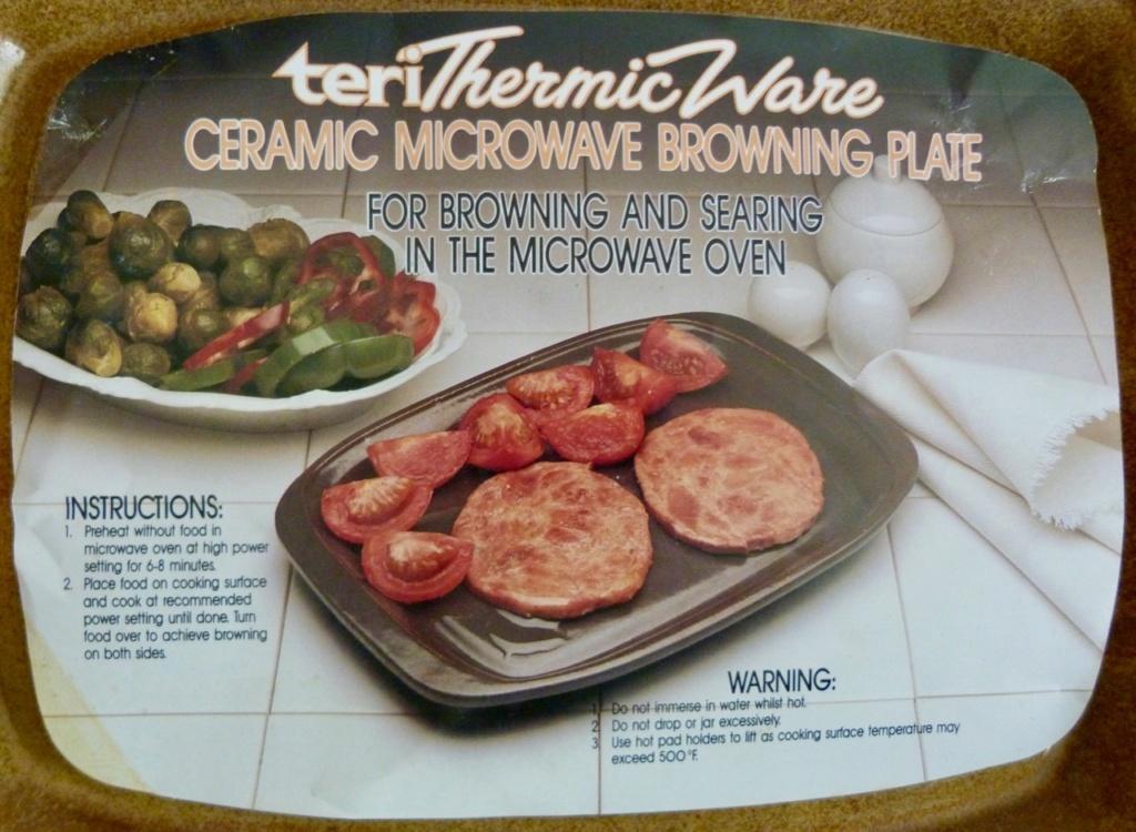 Teri Thermic Ware Ceramic Microwave Browning Dish Orzel_16