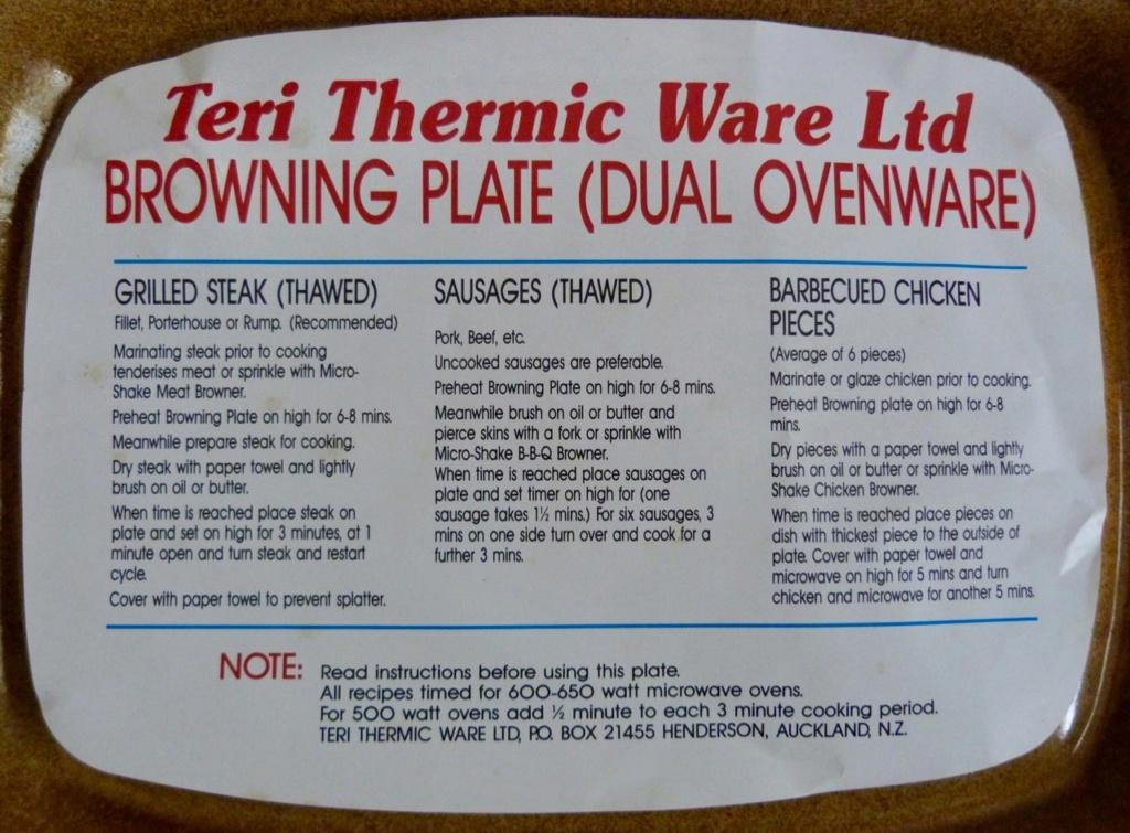 Teri Thermic Ware Ceramic Microwave Browning Dish Orzel_17
