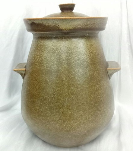 Lidded Temuka Storage Jar with handles Temuka20