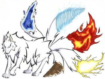 The 5 tailed Dog Demon Houkou 5taile10