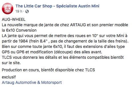 Nouvelle jantes 10 (6x10) pouces ARTAUG Automotive Captur92