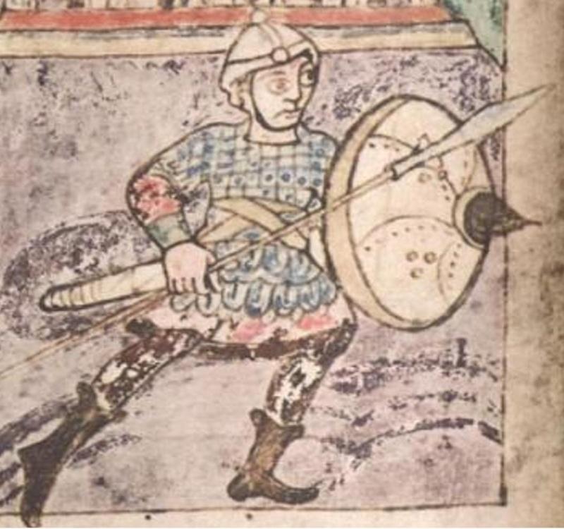 Broigne d'écailles carolingienne  Caroli28