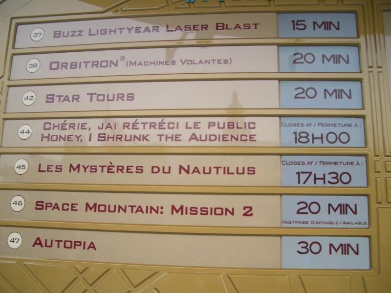 Fermeture anticipée et ouverture retardée de certaines attractions! (Liste en page 22) Cimg4112