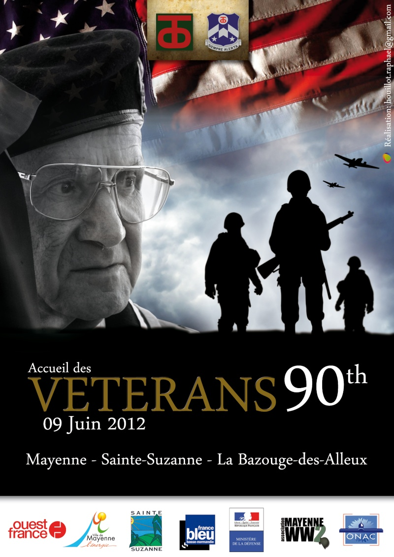 90th Infantry Division Day in Mayenne, June 9th 2012. Vetera10