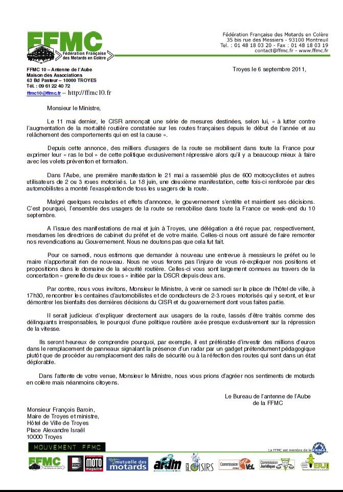 Lettre D Invitation Au Ministre Maire Au Prefet Et Aux Deputes
