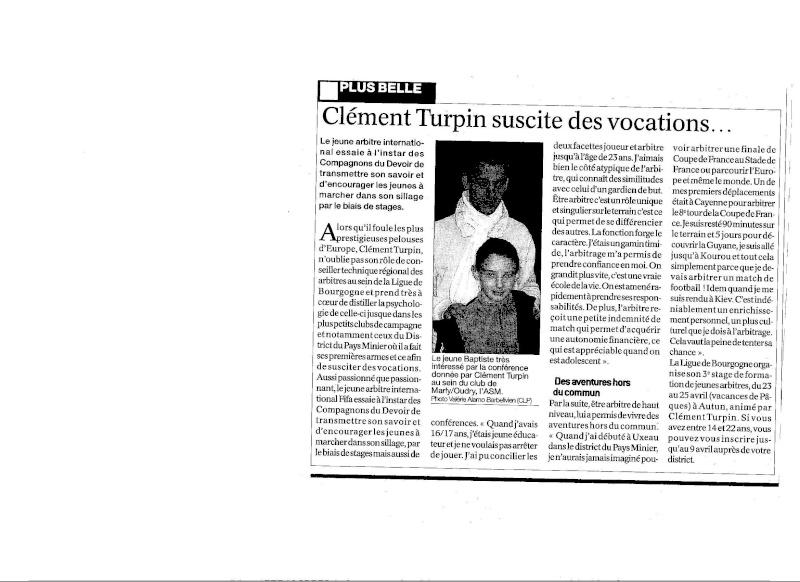 conférence sur l arbitrage avec Clément Turpin Ct10