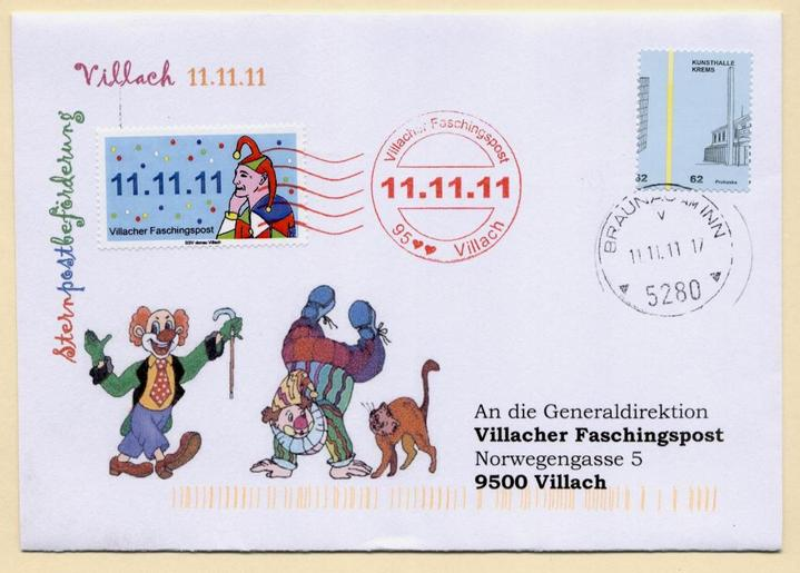 Liechtenstein - 11.11.11 Jahrhundertdatum des Faschings Narren10