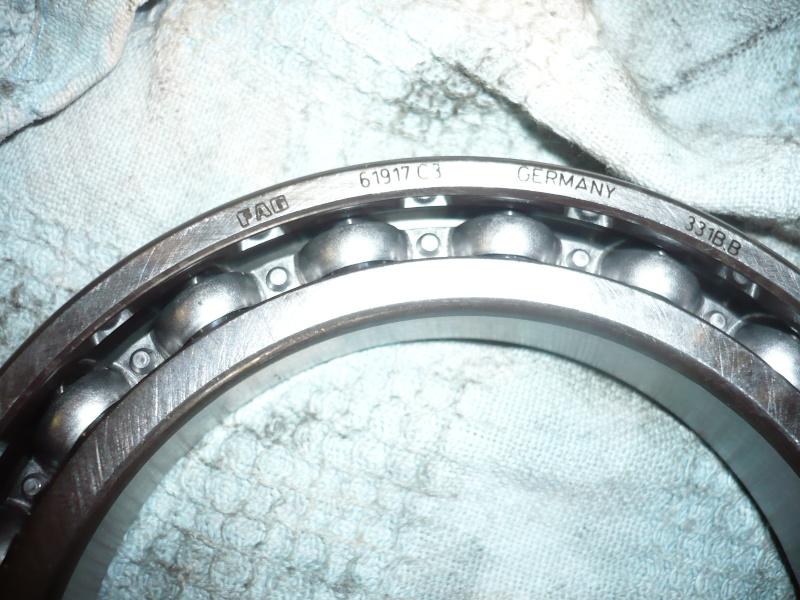 Réfection des roulements du couple conique 100 GS PD P1030618