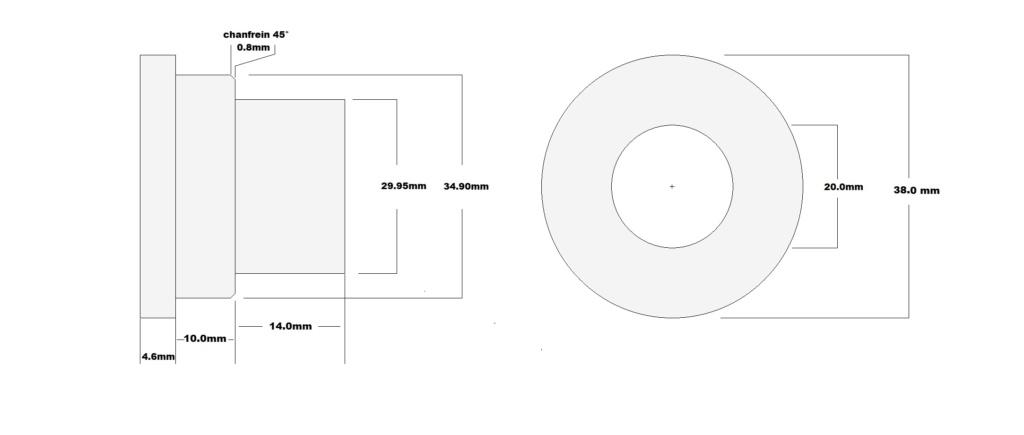 """KTM 640 Adv: Montage et plan entretoise roue AV """"gros axe"""" 14773e10"""