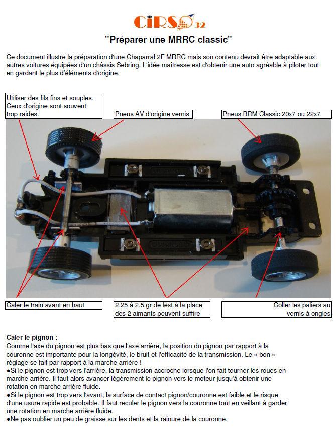 Guide de préparation de votre MRRC Classic Prepar10
