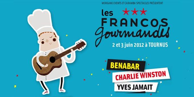 FRANCOFOLIES GOURMANDES - Tournus (71) - 2 et 3 juin - AVEC BENABAR le 03 juin. Franco10