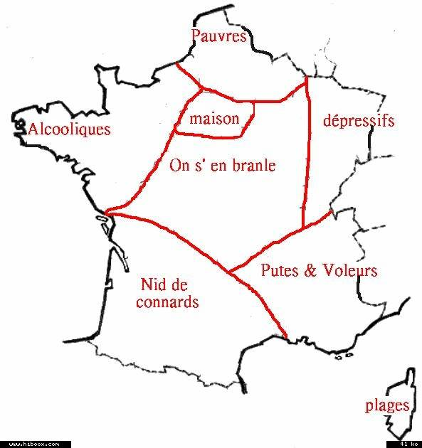 CARTE DE FRANCE BOOMERANG Carte211