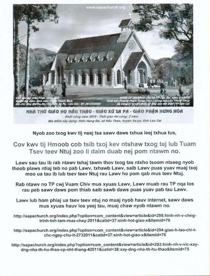 HMOOB CATHOLIC NYOB COB TSIB TEB (Hmong Catholic Vietnam) - Page 5 Tsev_t14