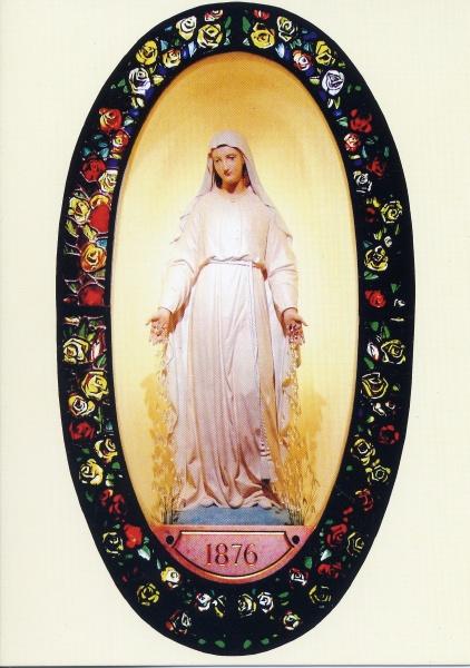 Niam Mab Liab tshwm sim nyob Pellevoisin 1876, Fab Kis teb. Vierge15