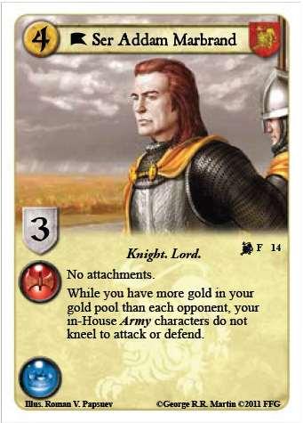 Fiche technique pour débutant: Présentation de la maison Lannister Lions110