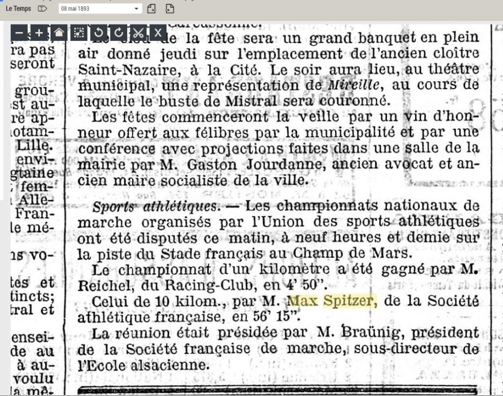 LES CHAMPIONS DE FRANCE MARCHE DE 1893 A 1921 1893_010