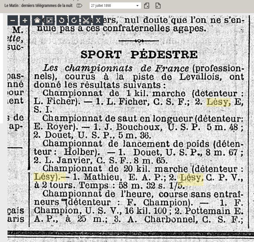 LES CHAMPIONS DE FRANCE MARCHE DE 1893 A 1921 1898_010