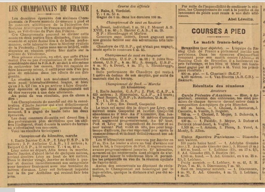 LES CHAMPIONS DE FRANCE MARCHE DE 1893 A 1921 1901_010