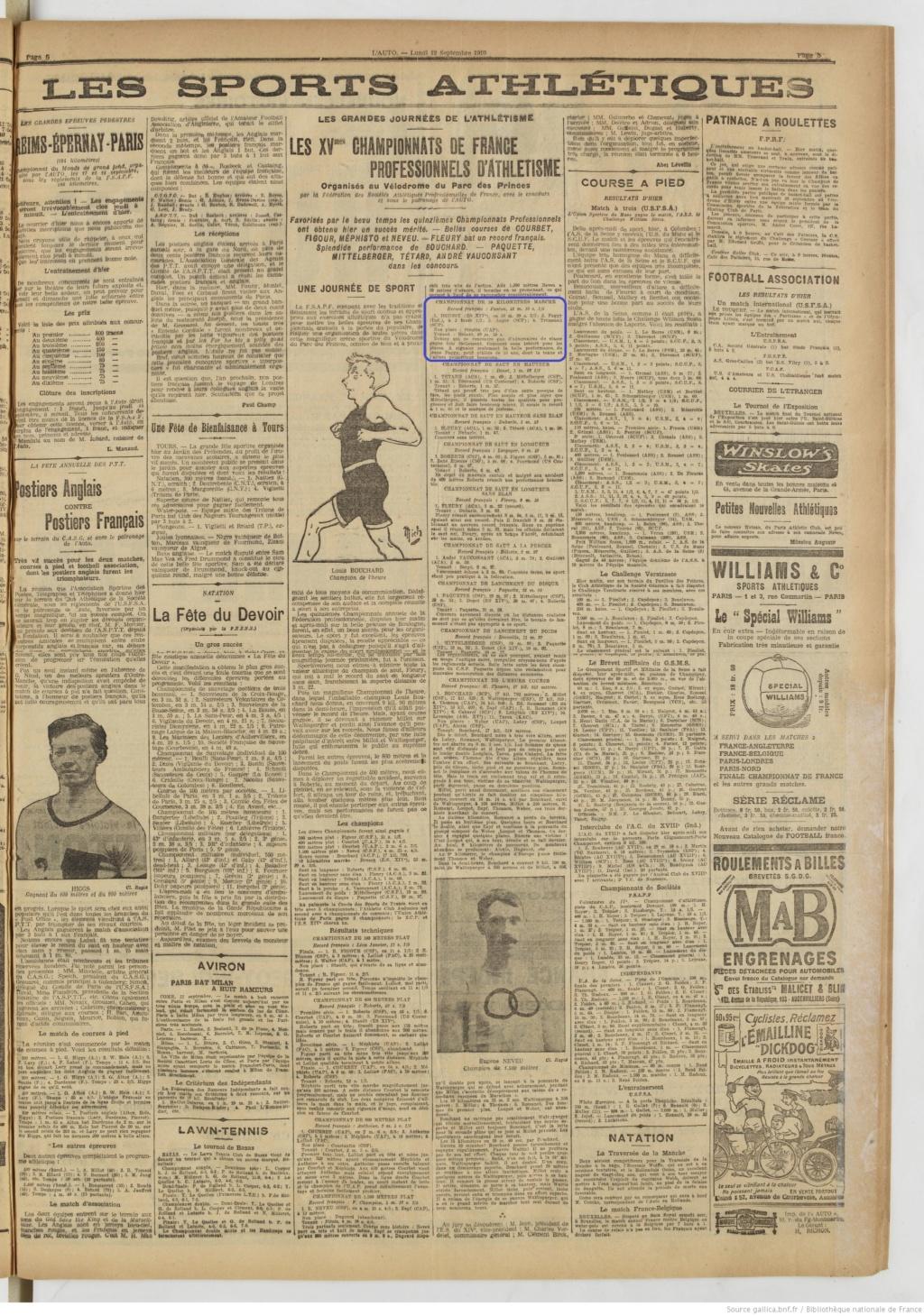LES CHAMPIONS DE FRANCE MARCHE DE 1893 A 1921 - Page 2 1910_010