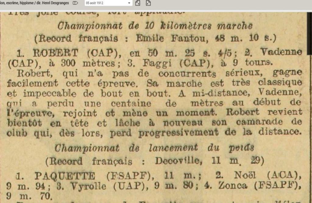 LES CHAMPIONS DE FRANCE MARCHE DE 1893 A 1921 - Page 2 1912_011