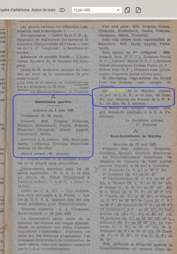 LE BOL D'OR DE LA MARCHE A MONTMARTRE  13 ET 14 JUIN 1925 1925_010