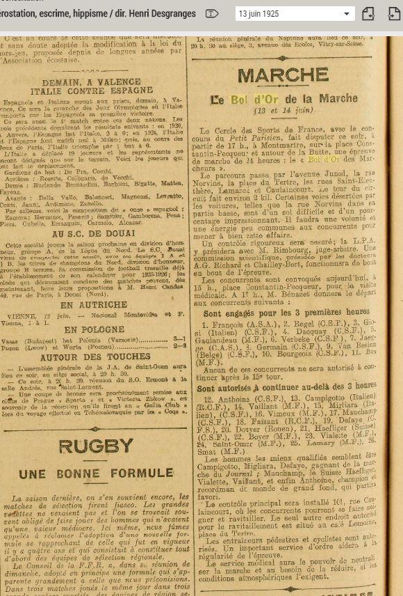 LE BOL D'OR DE LA MARCHE A MONTMARTRE  13 ET 14 JUIN 1925 1925_011