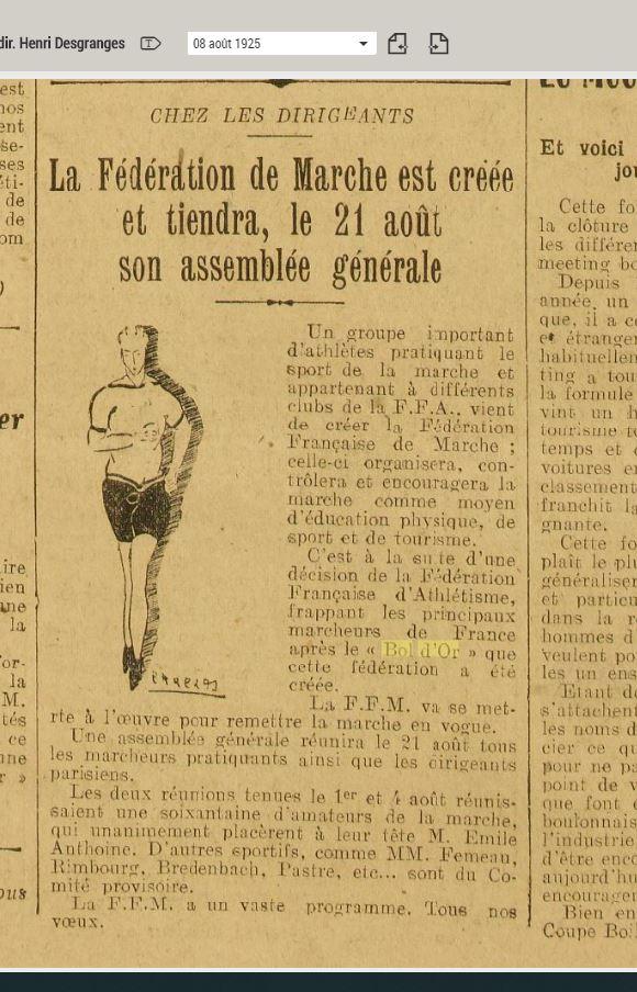 LE BOL D'OR DE LA MARCHE A MONTMARTRE  13 ET 14 JUIN 1925 1925_018
