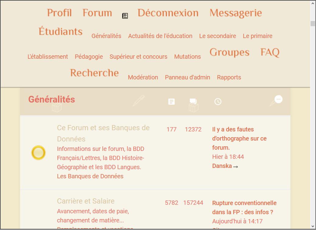Choix du thème provisoire pour le forum Captur11