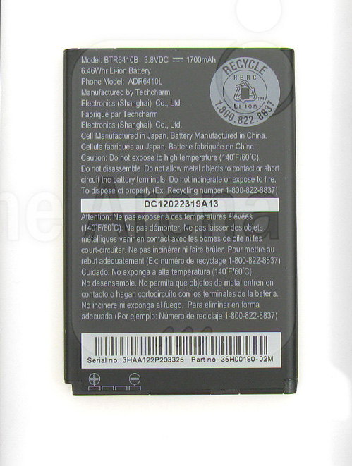 HTC Droid Incredible 4G LTE Battery 35H00180-02M BTR6410B 610