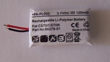 Plantronics CS70 battery 66278-01 PA-PL003 Pa-pl010