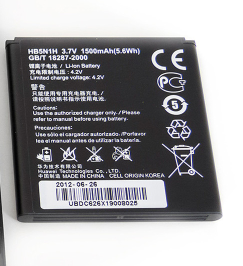 T-Mobile myTouch(Huawei U8680) Battery HB5N1H ML-AU057 U868010