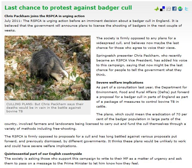 Badger Cull Protest We23